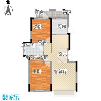 藏珑162087.00㎡藏珑1620户型图洋房标准层D4户型2室2厅1卫1厨户型2室2厅1卫1厨