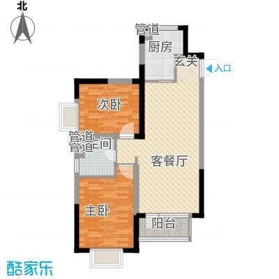 藏珑162086.00㎡藏珑1620户型图高层H户型2室2厅1卫1厨户型2室2厅1卫1厨