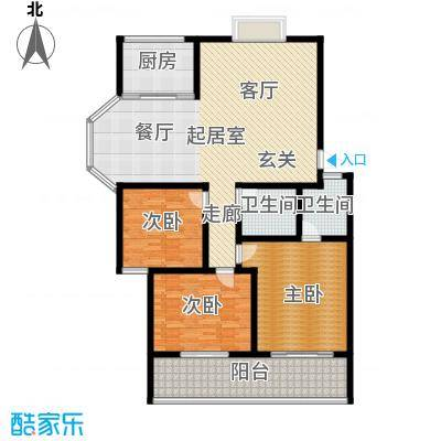 御墅林峰147.08㎡御墅林峰户型图户型33室2厅2卫户型3室2厅2卫