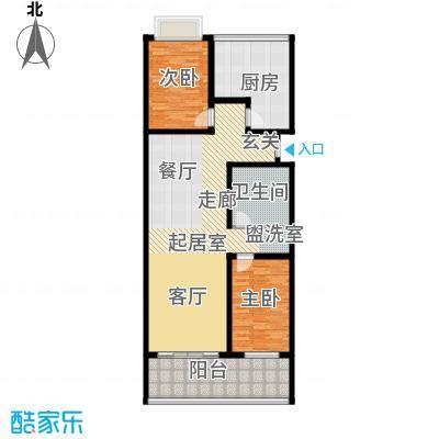 御墅林峰118.74㎡御墅林峰户型图户型42室2厅1卫户型2室2厅1卫