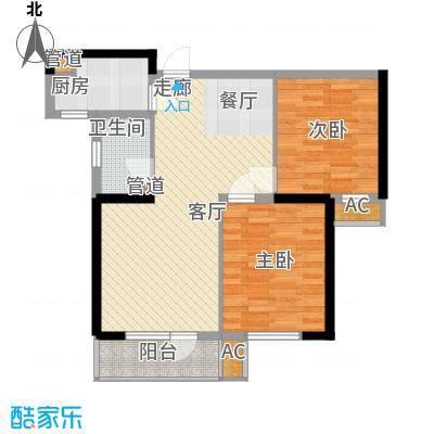 同方广场90.00㎡同方广场户型图B户型2室2厅1卫户型2室2厅1卫