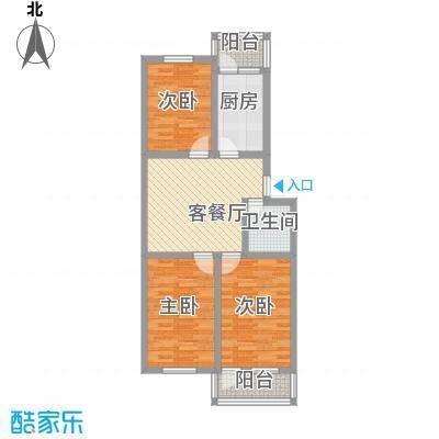 王官庄小区91.25㎡王官庄小区3室户型3室