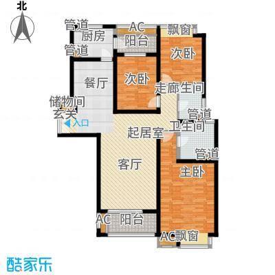 中海万锦城三期中海万锦城三期户型图135平三房两厅两卫E13室2厅2卫1厨户型3室2厅2卫1厨