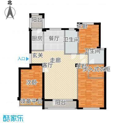 富贵南山129.24㎡富贵南山户型图4#楼C户型3室2厅2卫1厨户型3室2厅2卫1厨
