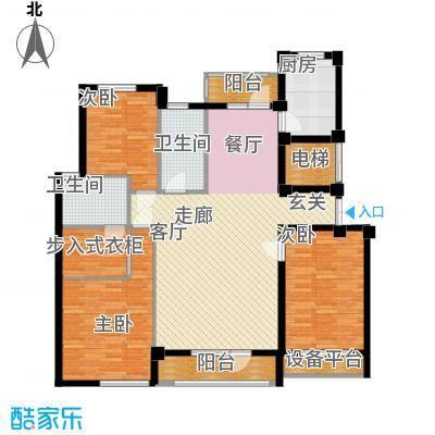 富贵南山132.36㎡富贵南山户型图7#楼B户型3室2厅2卫1厨户型3室2厅2卫1厨