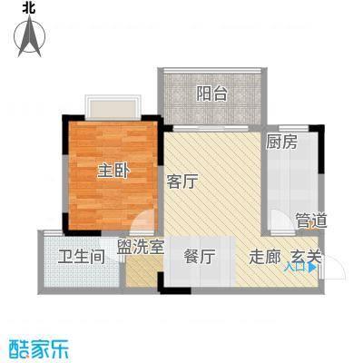 昌达四季花园 1室 户型图