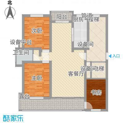 金榜华庭盛景小高层 3室2厅1卫1厨 120.10㎡