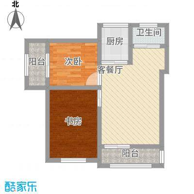 富润阳光户型图A1户型 2室2厅1卫1厨