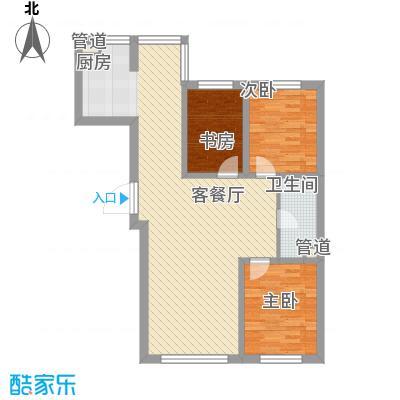 亚泰国际花园户型图4 3室2厅1卫1厨