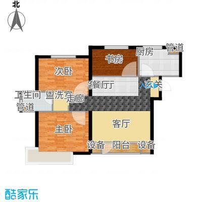 九洲御府户型图411户型图高层-05 3室2厅1卫1厨