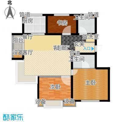 九洲御府户型图411户型图高层-06 3室2厅2卫1厨