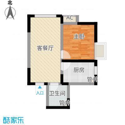 金辉・天鹅湾59.33㎡金辉・天鹅湾户型图E户型1室1厅1卫户型1室1厅1卫