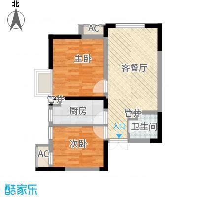 金辉・天鹅湾68.32㎡金辉・天鹅湾户型图A户型2室1厅1卫户型2室1厅1卫