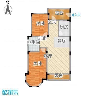 长河湾96.36㎡长河湾户型图C072室2厅1卫户型2室2厅1卫