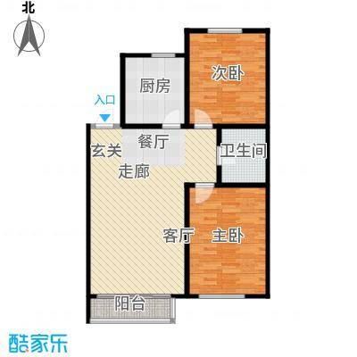长河湾85.63㎡长河湾户型图B032室2厅户型2室2厅