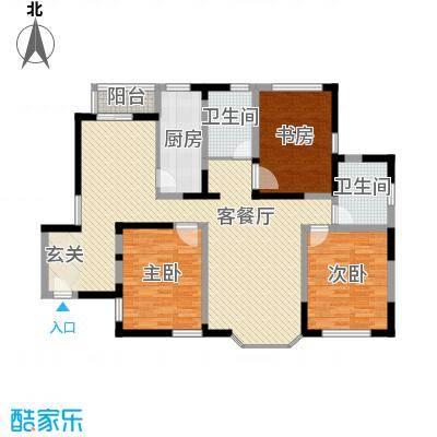绿洲紫荆花园绿洲紫荆花园三室户型10室