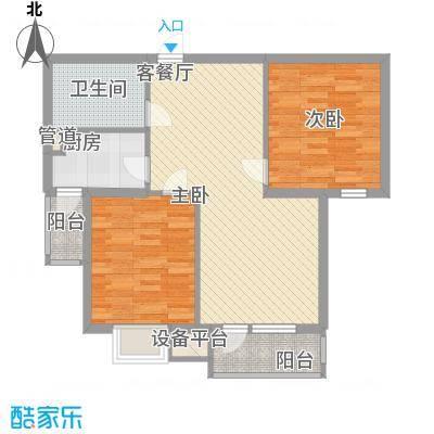 万恒领域89.00㎡万恒领域户型图B1户型2室2厅1卫1厨户型2室2厅1卫1厨