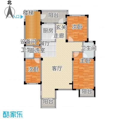 长河湾129.40㎡长河湾户型图C043室2厅2卫户型3室2厅2卫