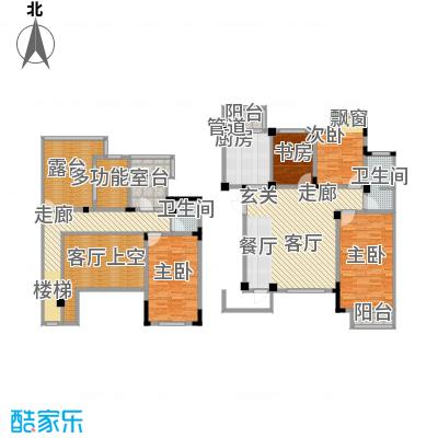 长河湾163.10㎡长河湾户型图A024室2厅2卫户型4室2厅2卫