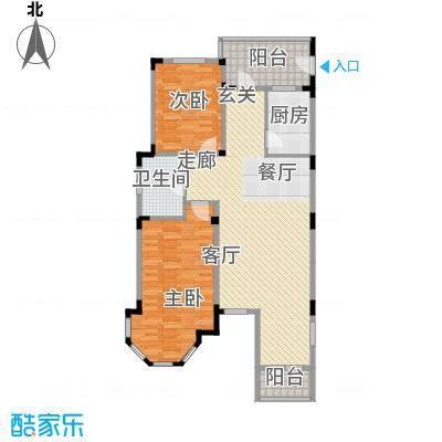 长河湾102.44㎡长河湾户型图C032室2厅1卫户型2室2厅1卫