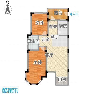 长河湾98.69㎡长河湾户型图C052室2厅1卫户型2室2厅1卫