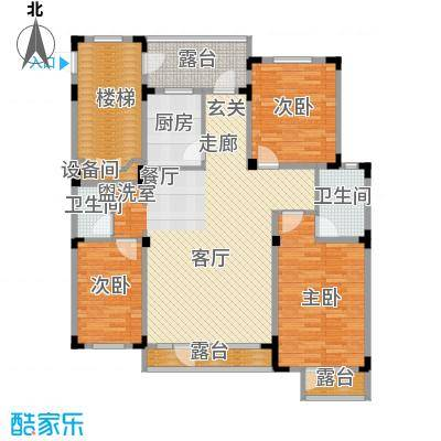 长河湾125.73㎡长河湾户型图C083室2厅2卫户型3室2厅2卫