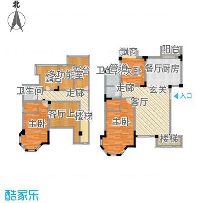 长河湾155.22㎡长河湾户型图A013室2厅2卫户型3室2厅2卫