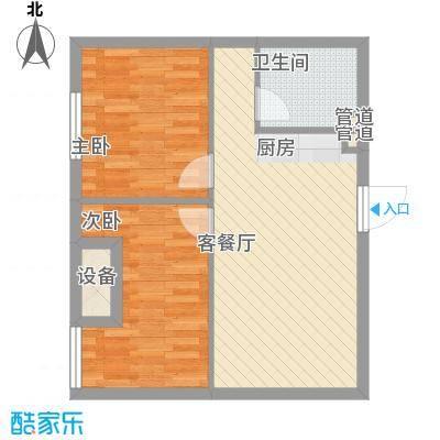 金地名京72.00㎡金地名京户型图A4-1户型图2室2厅1卫户型2室2厅1卫