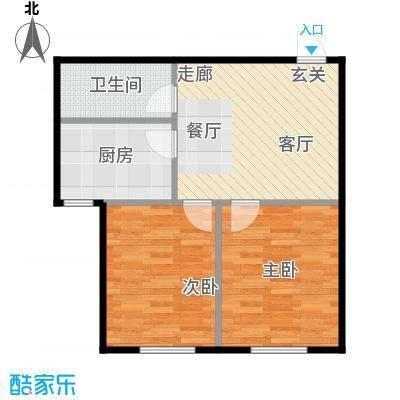 长河湾60.06㎡长河湾户型图B022室1厅户型2室1厅
