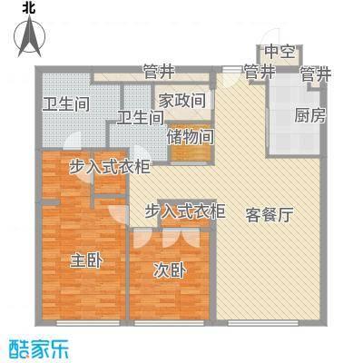 新地国际公寓苏寓143.00㎡新地国际公寓苏寓户型图3#D07户型2室2厅2卫1厨户型2室2厅2卫1厨