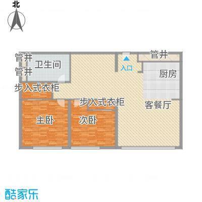 新地国际公寓苏寓203.00㎡新地国际公寓苏寓户型图1#N06P户型2室2厅1卫1厨户型2室2厅1卫1厨