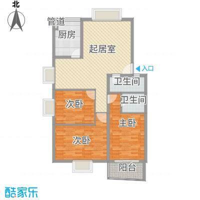 天业翠苑120.37㎡天业翠苑3室户型3室