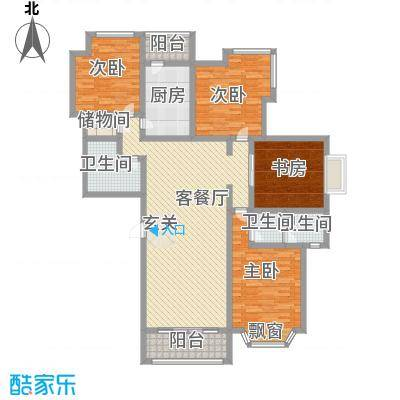泉城1高户型图高层A户型 4室2厅2卫