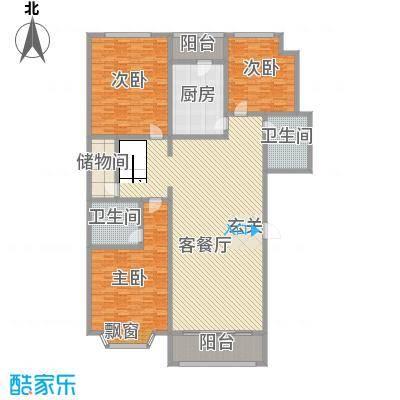 泉城1高户型图复式B户型 3室2厅2卫1厨