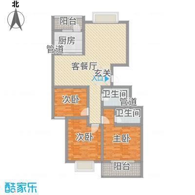 泉城1高户型图小高层户型 3室2厅2卫