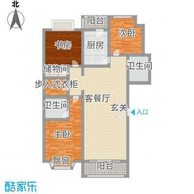 泉城1高户型图高层B户型 3室2厅2卫