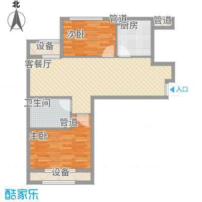 银亿格兰郡77.00㎡银亿格兰郡户型图G15户型2室2厅1卫户型2室2厅1卫