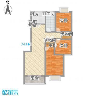 凯旋新城户型图11#三居A户型 3室2厅1卫