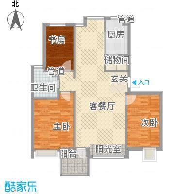 弘基书香园 3室户型图