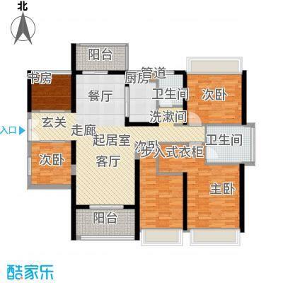 光明大第户型图3栋A户型132平 5室2厅2卫1厨