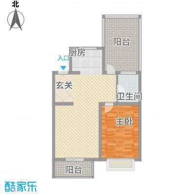心海阳光77.72㎡心海阳光户型图1室2厅1卫户型10室