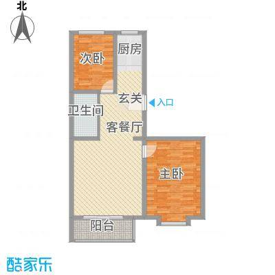 心海阳光93.67㎡心海阳光户型图2室2厅1卫户型10室
