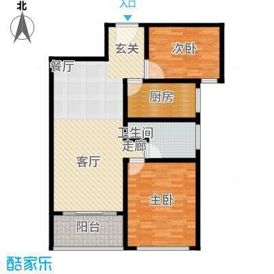 卢湾都市花园88.33㎡上海卢湾都市花园户型10室