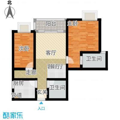 椰河湾椰河湾户型图D户型2室2厅1卫1厨户型2室2厅1卫1厨