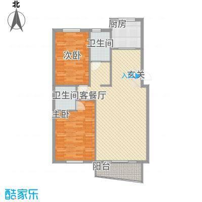 水岸花都110.95㎡水岸花都户型图110.95平户型2室2厅2卫1厨户型2室2厅2卫1厨