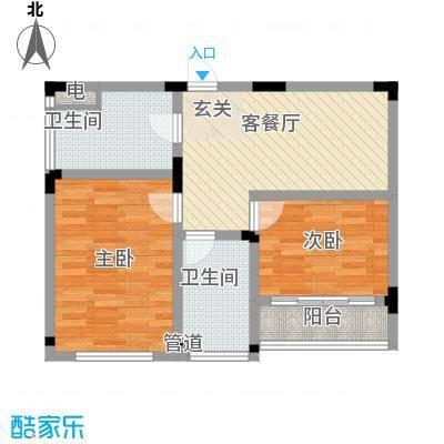 长兴苑80.00㎡长兴苑两室一厅一卫80平米C户型10室