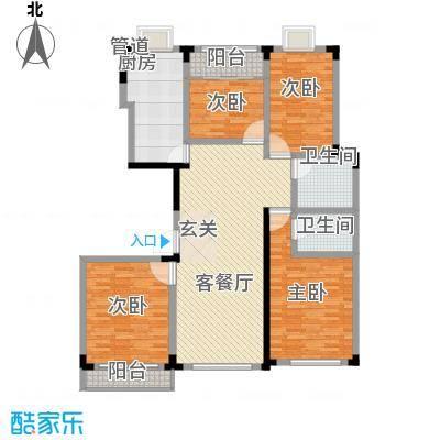 长兴苑166.70㎡长兴苑166.7平米四室两厅两卫E户型10室