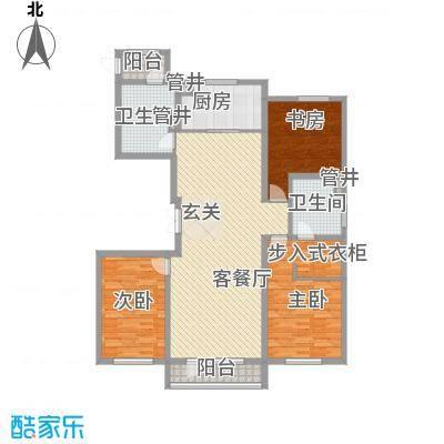 万科蓝山167.00㎡万科蓝山户型图U5户型3室2厅2卫户型3室2厅2卫