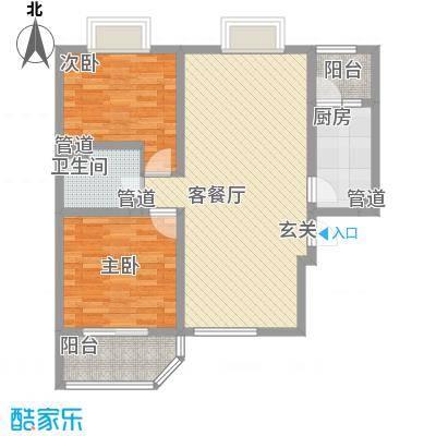 济发泉星88.00㎡济发泉星户型图C3_D(cn-3)(售完)2室2厅1卫1厨户型2室2厅1卫1厨