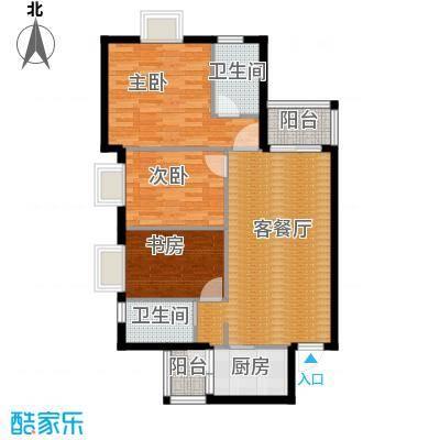 花果园99.40㎡五里冲E4户型3室1厅2卫1厨